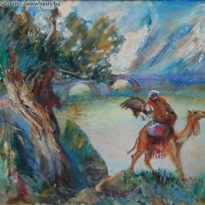 Охота на Панджшере (2010, холст, масло, 75 x 90 см)