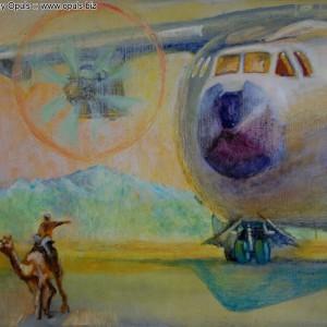 Пришел борт (2010, холст, масло, 50 x 60 см)